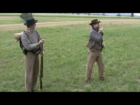 Gettysburg Battlefield National Park Confederate Army at Pitzer Woods