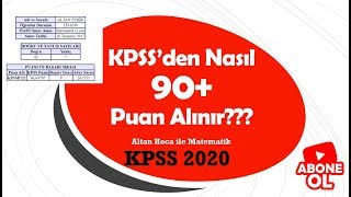 KPSS 2020 90 puan almak için ne yapmak lazım? (Lisans  Önlisans  Ortaöğretim)