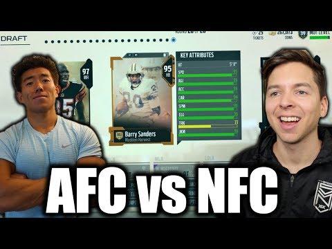 AFC vs NFC DRAFT CHALLENGE W/ KayKayEs! MUT DRAFT