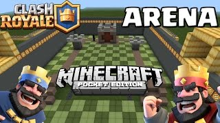 CLASH ROYALE ARENA In MINECRAFT POCKET EDITION! [Deutsch/German HD+]