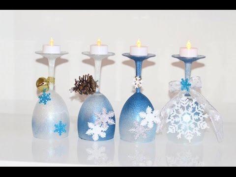 Diy arreglos de copas para navidad youtube - Hacer centros de navidad ...