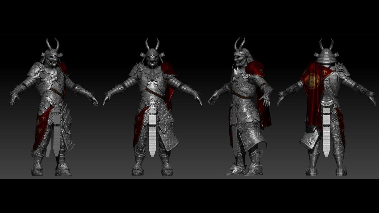 samurai armor part 05 youtube