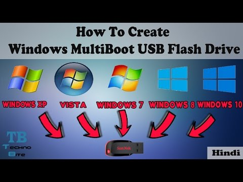 How To Create MultiBoot USB Flash Drive [Windows] [Hindi]