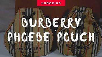 버버리 포이베파우치 언박싱 & 크로스백 변신 정보 (Burberry Phoebe Pouch)