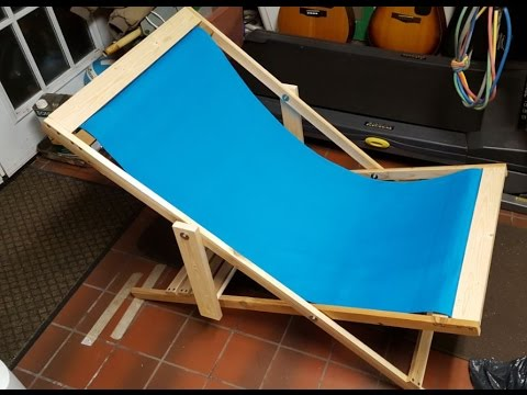 DIY Folding Beach Chair  Super Easy Project  YouTube