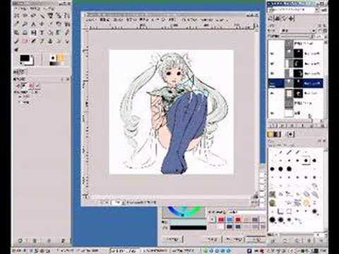 Desenhado Anime com GIMP (Youtube)