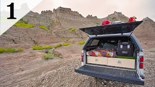 Stealth Truck Camping In a Canyon (Badlands)