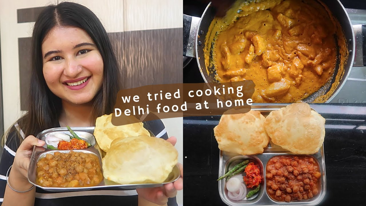 Delhi Food At Home (Quite Challenging) | Chole Bhature, Butter Chicken, Aloo Chaat | #CookWithGG