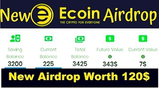 New Big Project Airdrop 1225 ECoin Worth 120$ || BUXCOIN UPDATES