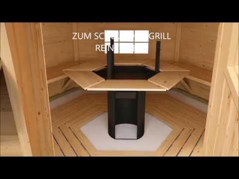 alles zum aufbau einer grillkota von finn art blockhaus youtube. Black Bedroom Furniture Sets. Home Design Ideas