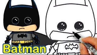 How to Draw Batman Cute and Easy