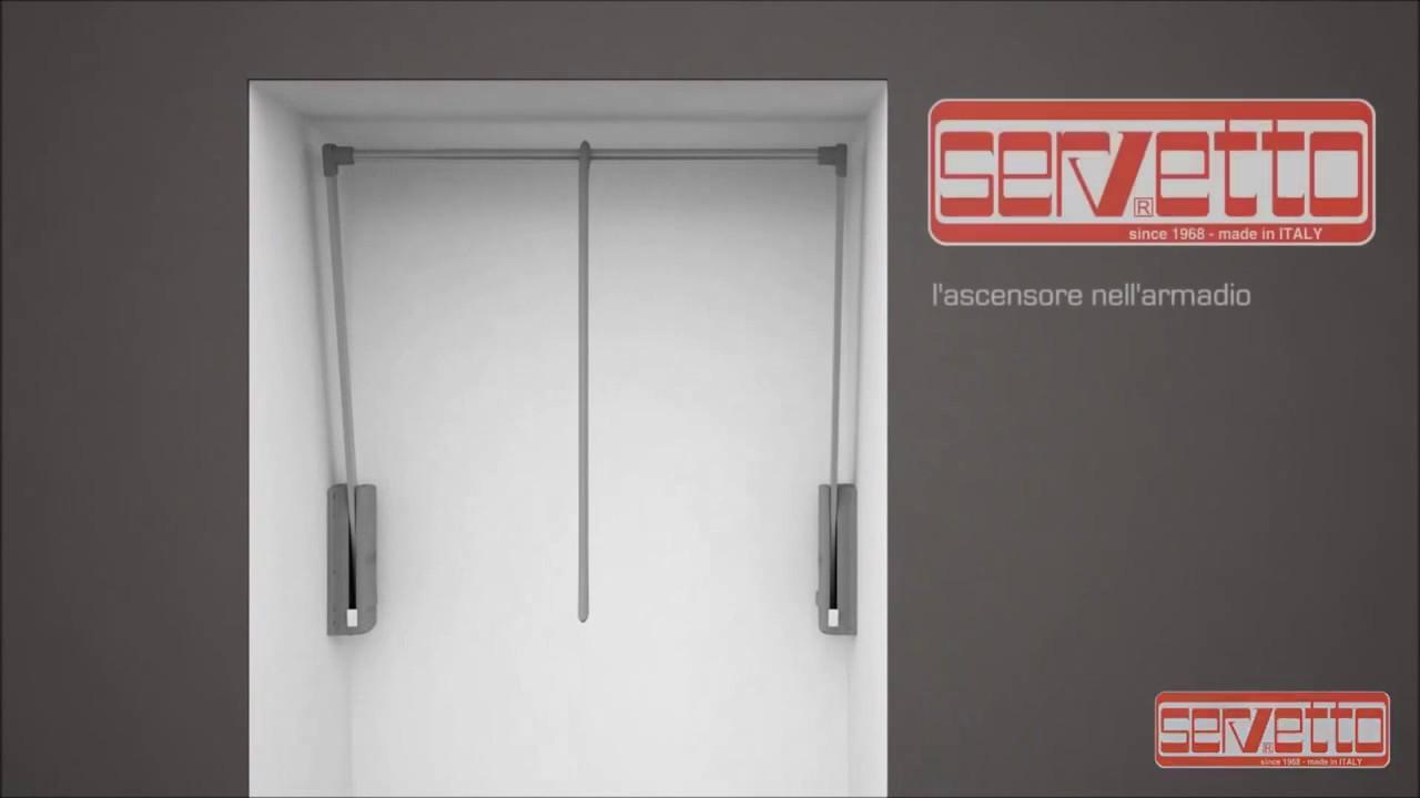 Servetto Appendiabiti.Assembly Servetto 3000 Original The Wardrobe Lift Cm 77 120 Shopmancini Com