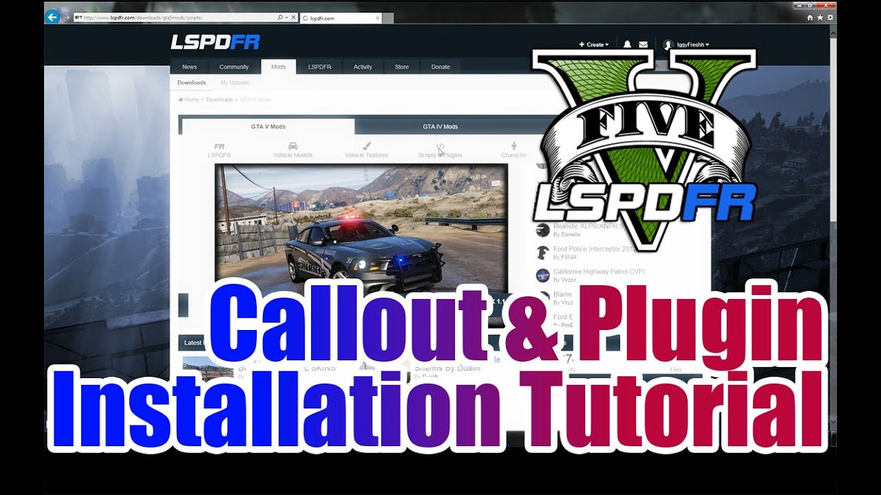 LSPDFR - GTA 5 - How to install Callouts and Plugins
