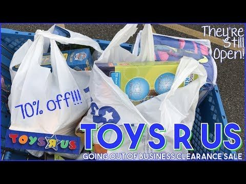 Toys R Us Clearance Shopping   Is Toys R Us Still Open? Yes!   Last Time Ever Going :(
