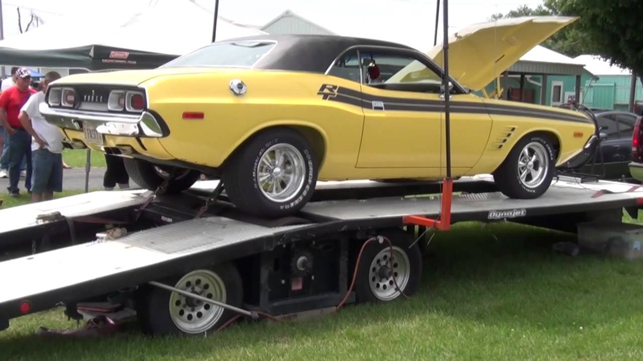 1972 Dodge Challenger On The Dyno