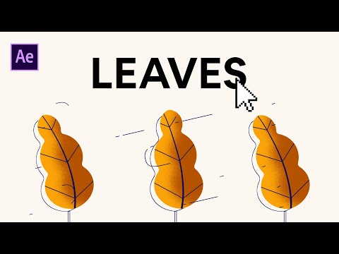 EASY Animated Leaves on After Effects Tutorial