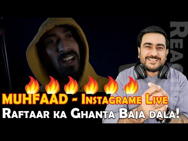 INSTAGRAM LIVE REACTION   MUHFAAD   KARTAVYA   Muhfaad Diss Raftaar