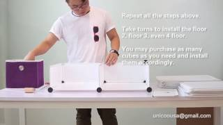 Unicoo Cube Organizer Installation Instruction