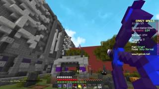 "Minecraft ` EPIC CRAZY WALLS SOLO! ""LEARNING THE GAME!"""
