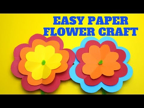 Easy Paper Flower Craft | Mothers Day Craft for Kids