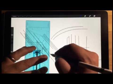 Procreate App -  Architectural Drawing Tips (Quick Menu, Streamline)