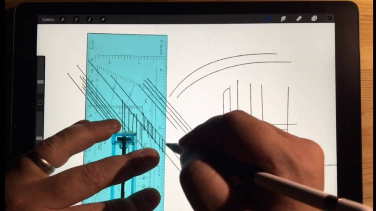 Drawing Straight Lines With Procreate : Procreate app architectural drawing tips quick menu streamline