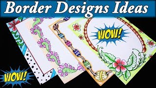 Britto Border designs on paper project work designs Borders for Projects My Creative Hub