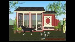 S101 - Chicken Coop Plans Construction - Chicken Coop Design - How To Build A Chicken Coop