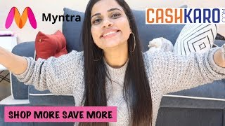 MYNTRA EORS HAUL | 10% Cashback using CASHKARO.com | Sana K