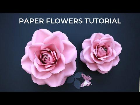 Diy Paper Rose Tutorial   Realistic Looking Paper Flowers