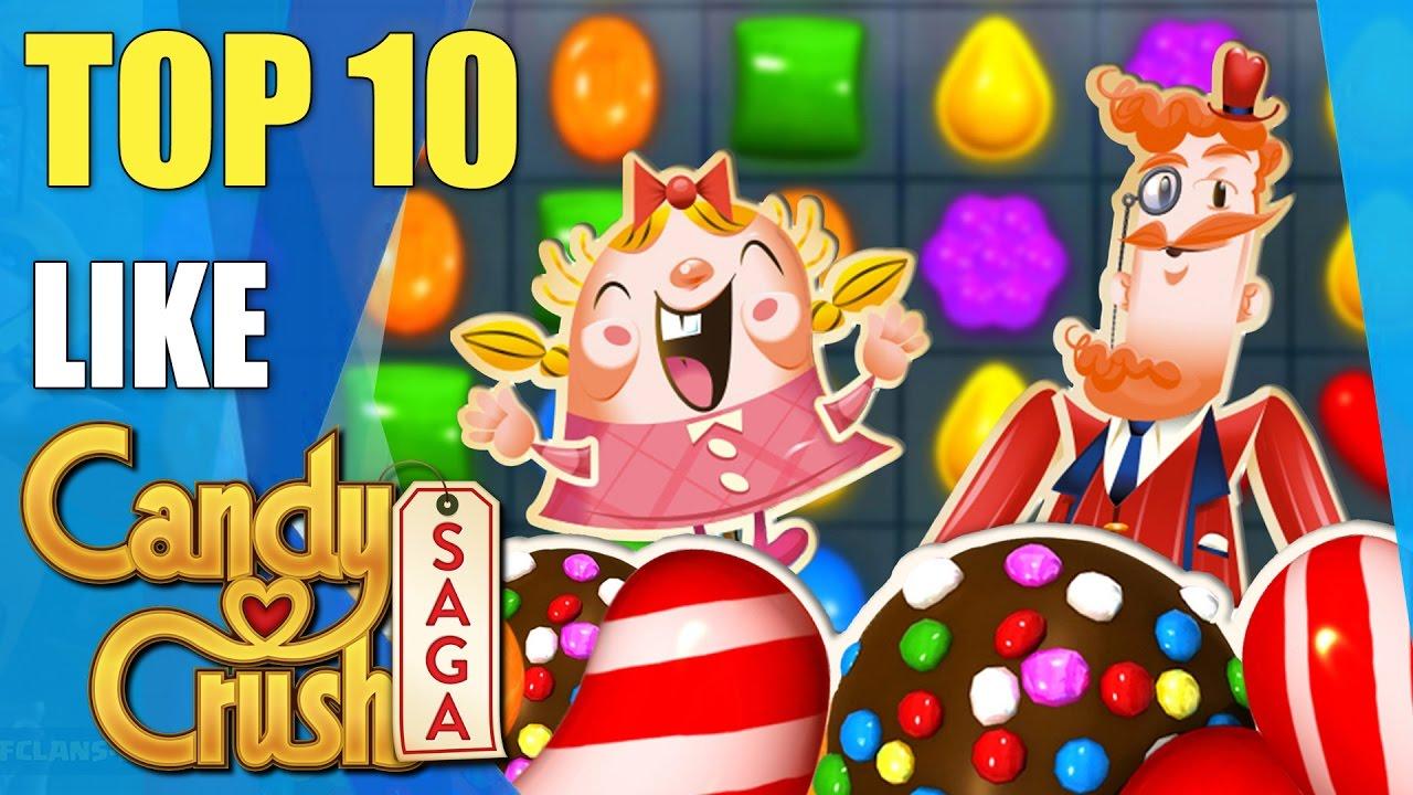 Top 10 Awesome Games Like Candy Crush Saga Youtube
