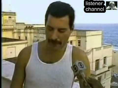 Freddie Mercury interview in Brazil, 1985 (russian subs)