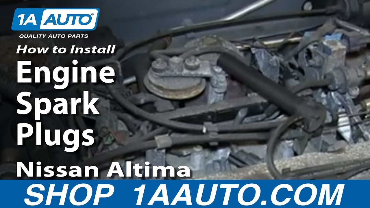 how to install remove engine spark plugs nissan altima 2