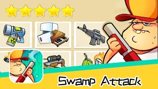 Swamp Attack EPISODE 3 Level 6 Walkthrough Defend Survive Attack! Recommend index five stars