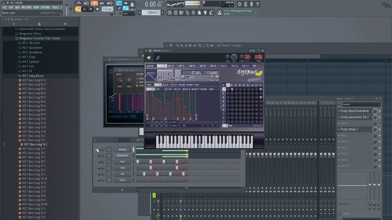 FL Studio tutorial - How to make a Sytrus sequence (no talking)