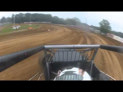 Chase Briscoe In-Car Sprint Car USAC Heat | Lincoln Park Speedway | Putnamville, IN | July 4th, 2013