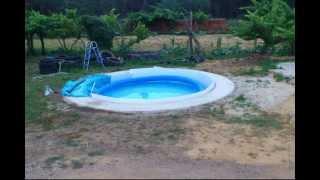 como enterrei minha piscina intex 460/1.7