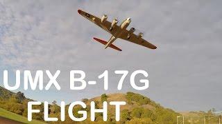 e flite umx b 17g flight