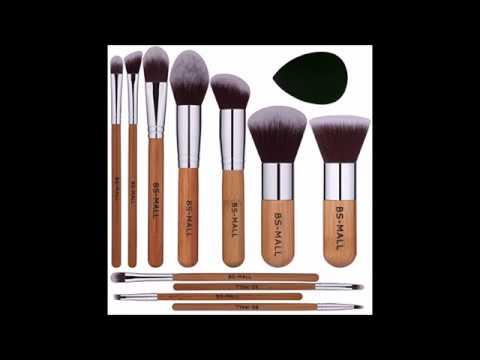 BS MALL Bamboo Silver Premium Synthetic Kabuki Makeup Brush Set Cosmetics Foundation Blending Blush