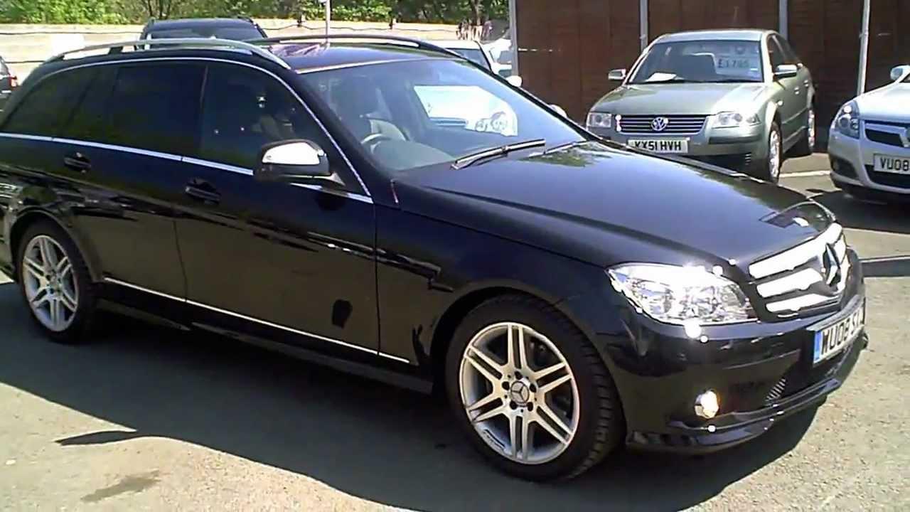 2008 mercedes c220 cdi amg sport estate auto diesel black youtube. Black Bedroom Furniture Sets. Home Design Ideas