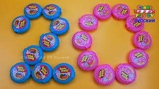 Учим цвета с жвачками hubba bubba | Учим цифры от 1 до 20 |Складываем цифры из Хубба Бубба для детей