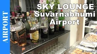 Air France KLM Sky Lounge Suvarnabhumi Airport - Bangkok Lounge Access also economy class - 4K video