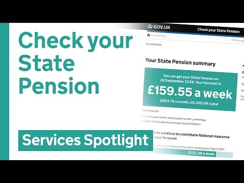Check your state pension on GOV.UK