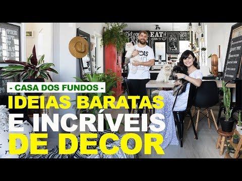 IDEIAS BARATAS E INCRÍVEIS DE DECOR  -  APRENDENDO A DECORAR O PRIMEIRO LAR COM CASA DOS FUNDOS