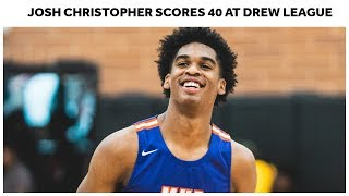 Josh Christopher Goes Off For 40 at Drew League - Full Highlights