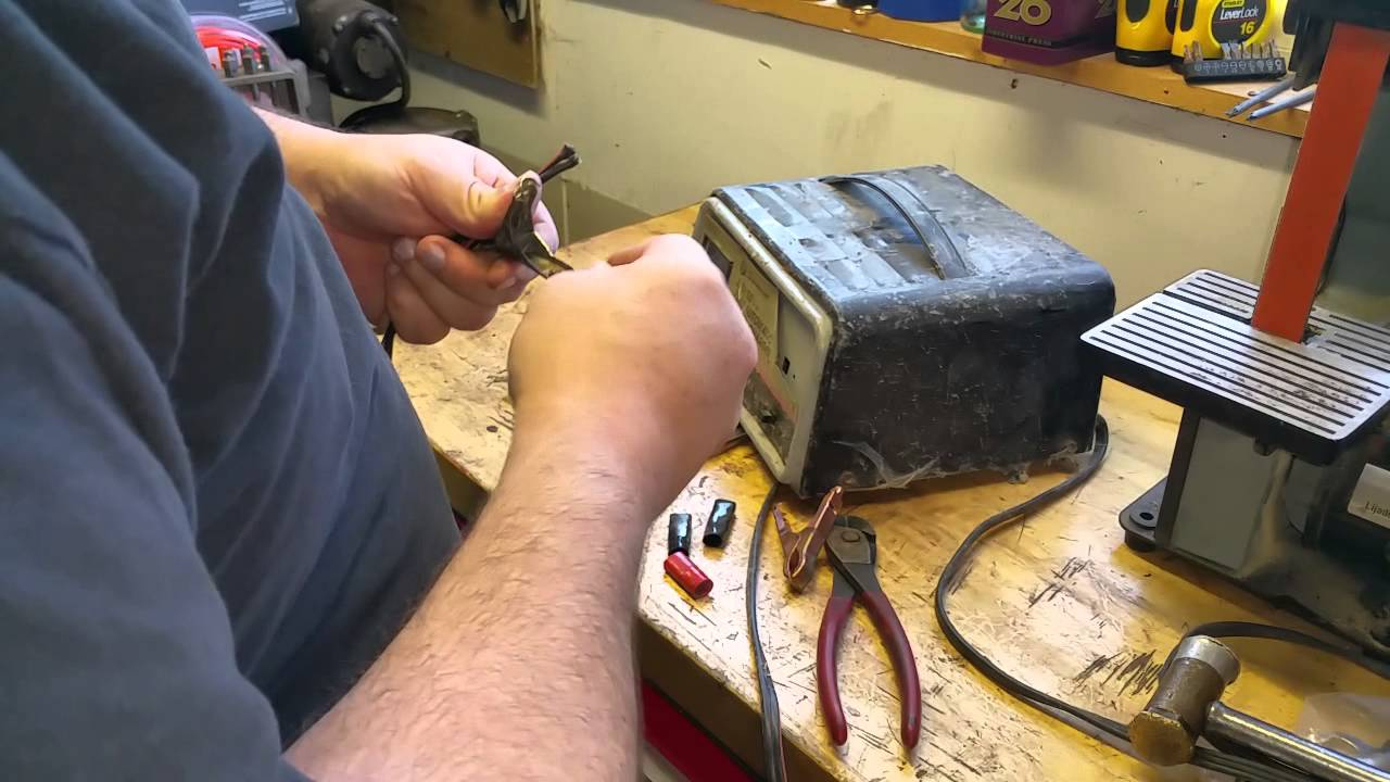 Easy Fix For Battery Charger Clips Youtube Sears Wiring Diagram