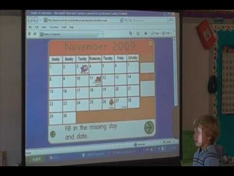 Morning Meeting using the SMART Board Part 1 - YouTube