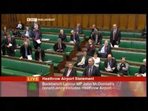 John McDonnell suspended from house of commons 15th January 2009