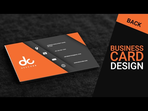 Business card design in photoshop cs6 | Back | Orange | Gray