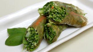 Raw Vegan Thai Wraps With Spicy Peanut, Sesame Ginger & Chili Coconut Almond Sauce